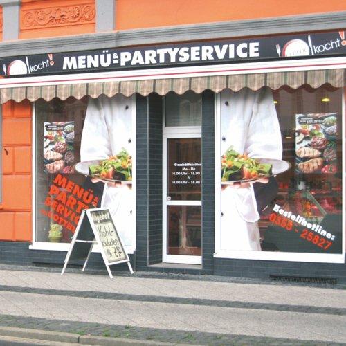 Beschilderung Menü- und Partyservice