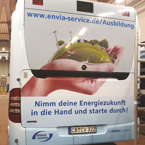 Busbeklebung Envia