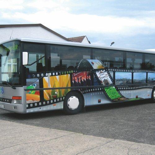 Fahrzeugbeklebung Linienbus