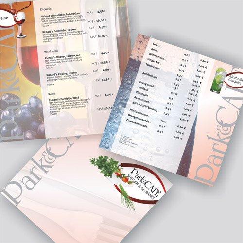 Grafikdesign Park und Cafe