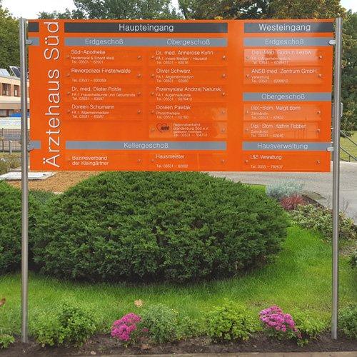 Infotafel Ärztehaus