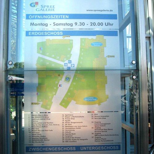 Infotafel Spree Galerie Cottbus