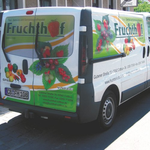 Kfz-Beklebung Fruchthof