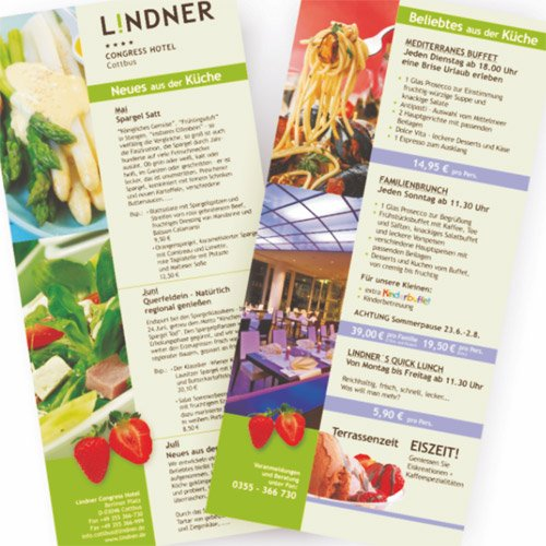 Printprodukte Hotel Lindner