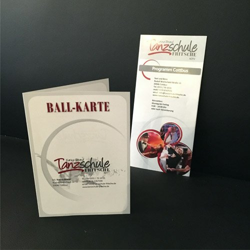 Printprodukte Tanzschule Fritsche