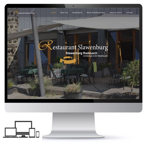 Webdesign Restaurant Slawenburg