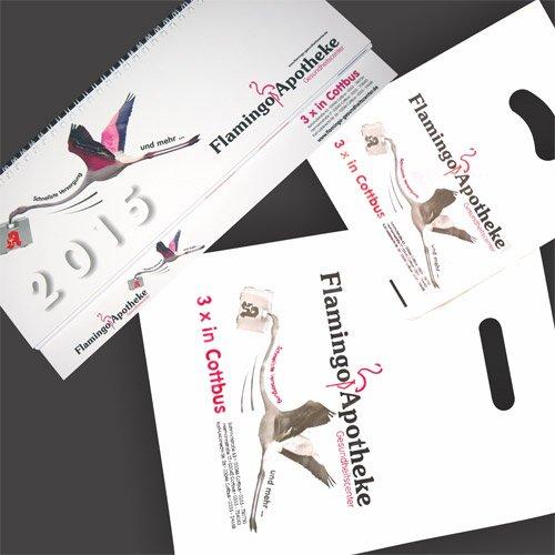 Werbeartikel Apotheke Flamingo